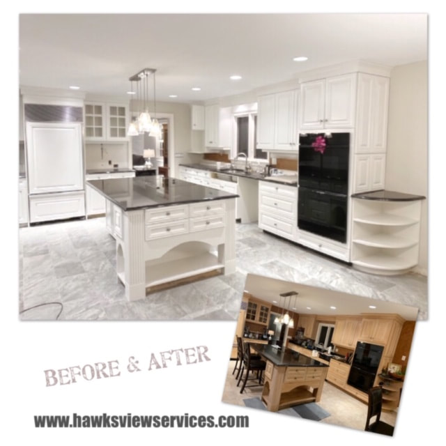 Cabinet Refinishing, Cabinet Spraying, CT cabinets, Kitchen Cabinets, Cabinet Painting, Hawksview Services, kitchen remodeler, cabinet contractor, cabinets, painter, kitchen cabinets, cabinet refinish, paint kitchen